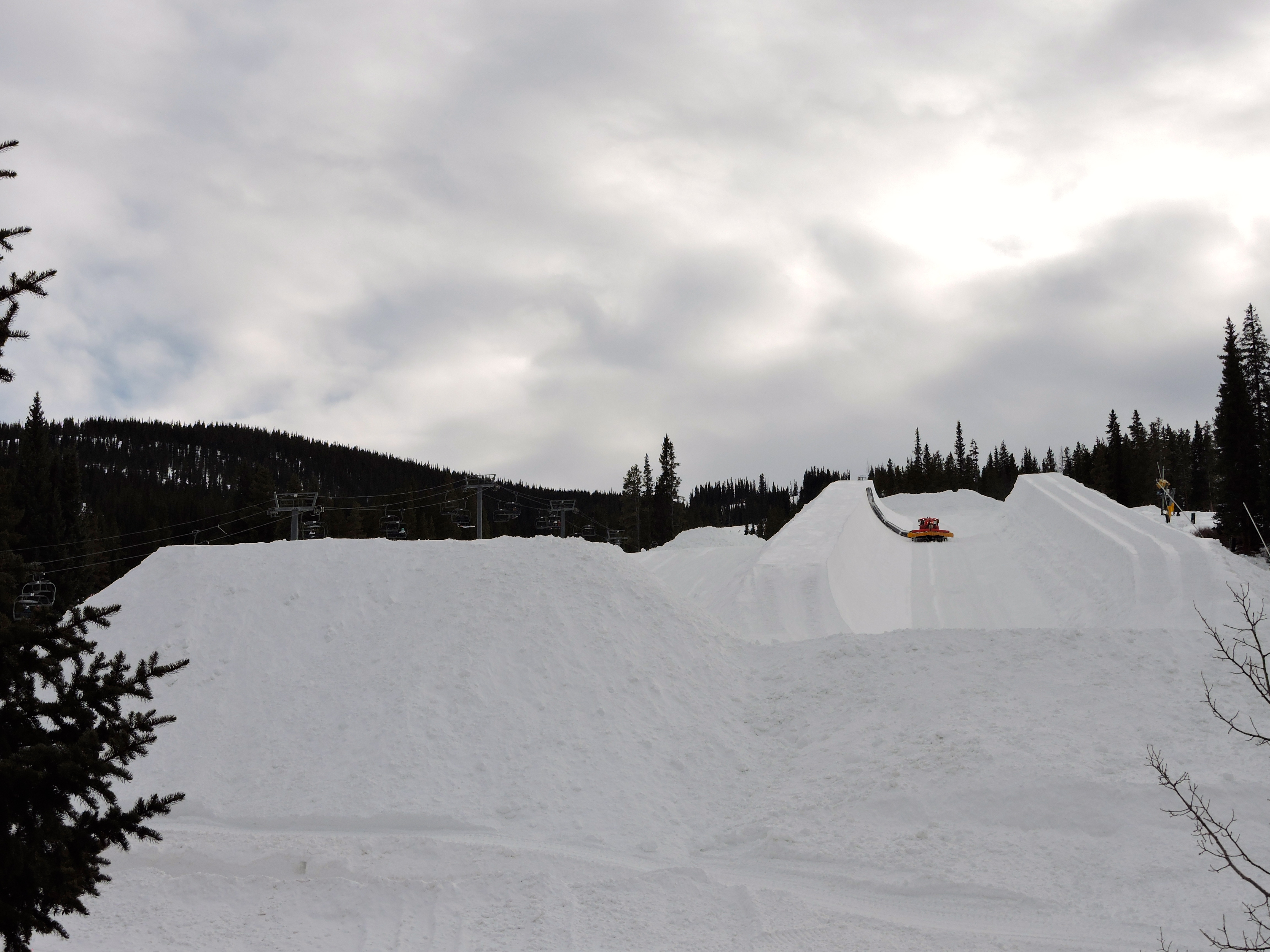 The halfpipe at Copper Mountain Colorado