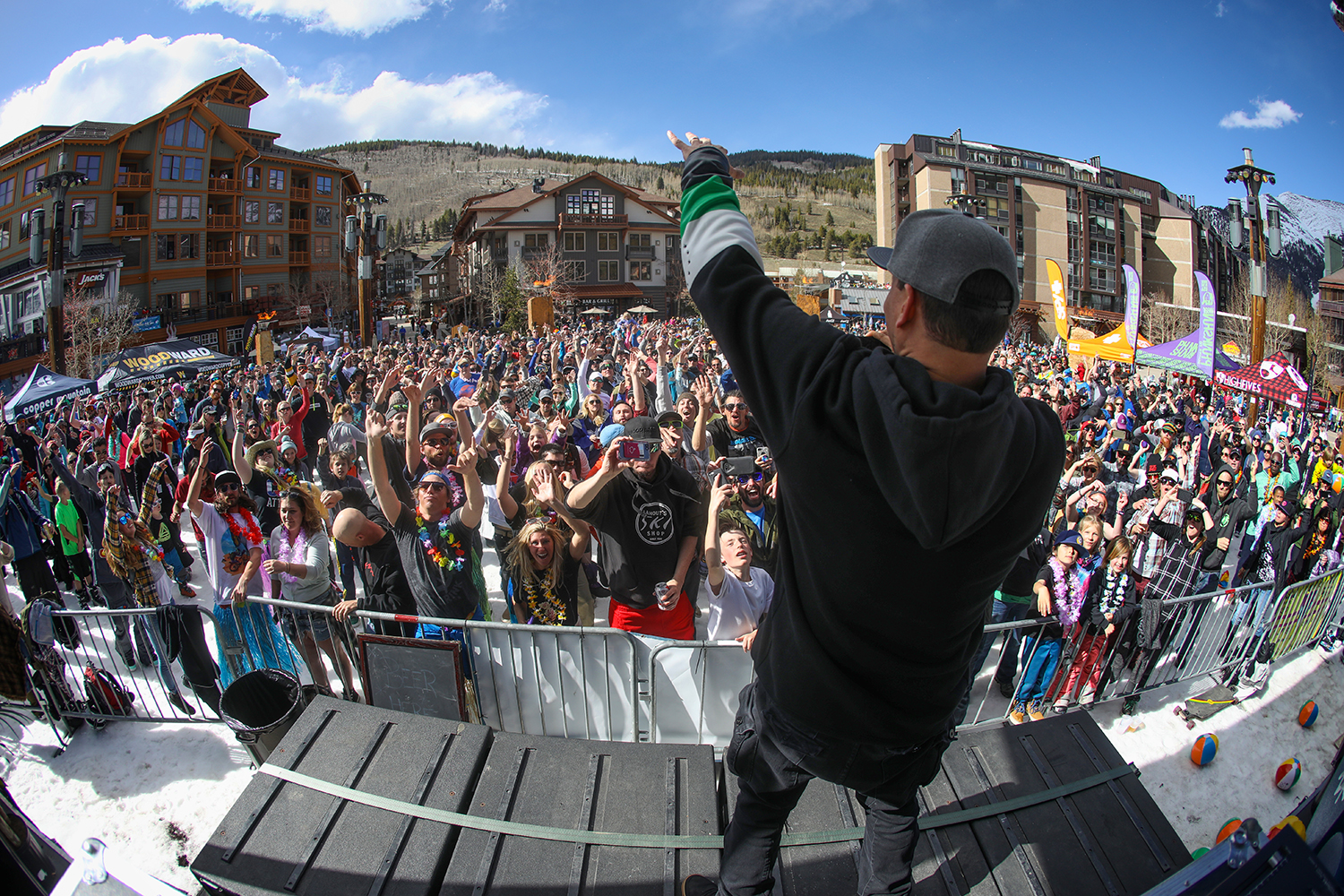 Artist Mix Master Mike performs at Copper Mountain's Sunsation, a spring music festival at the resort
