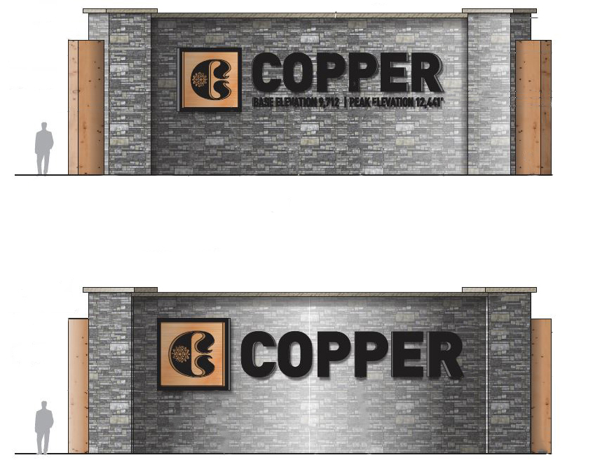 A rendering of the new monument wall at Copper Mountain