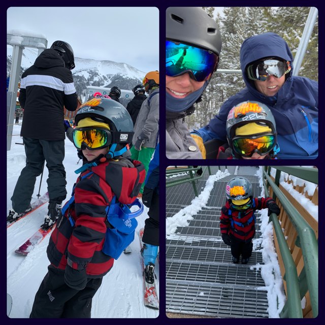 A glimpse at the Blake family skiing off the Kokomo Express lift at Copper Mountain