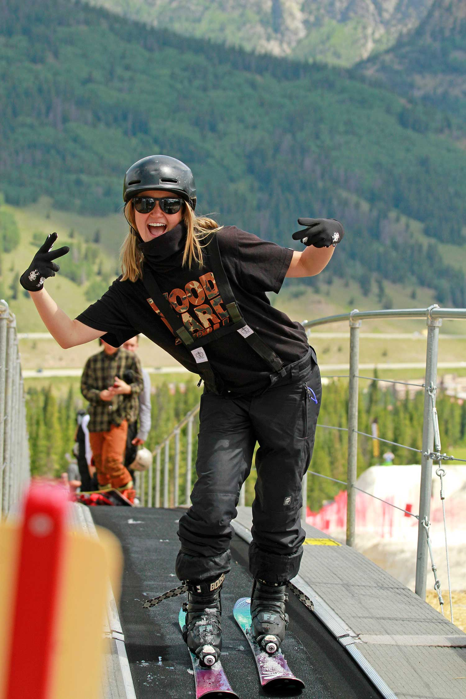 Woodward Copper Ski Coach Brooke Potter smiles for the camera during Woodward Copper Summer Camp