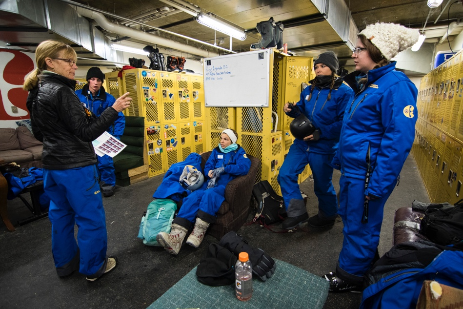 Lift operators meet in locker room at Copper Mountain