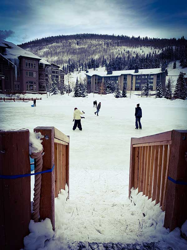 A view of the ice rink at Copper Mountain