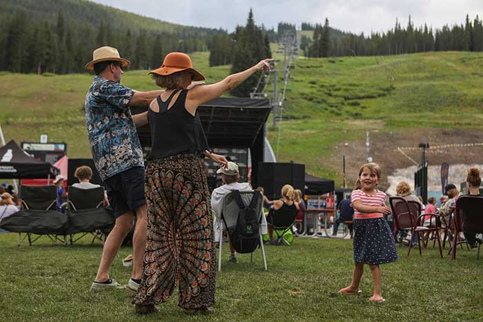 Family dancing at Copper Mountain
