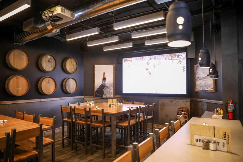 A look at a large dining space inside Ten Mile Tavern at Copper Mountain