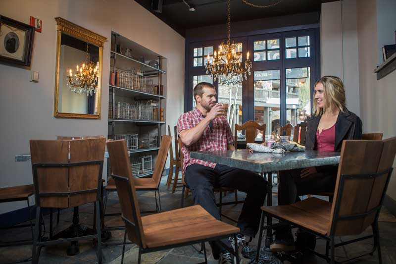 Two guests enjoy Toast & Co at Copper Mountain in Summit County Colorado