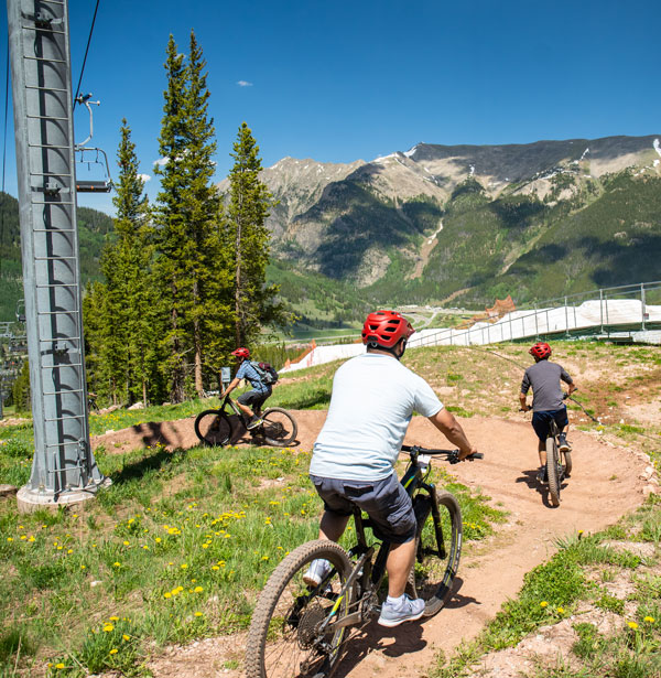Group heads down Copper's mountain biking trails