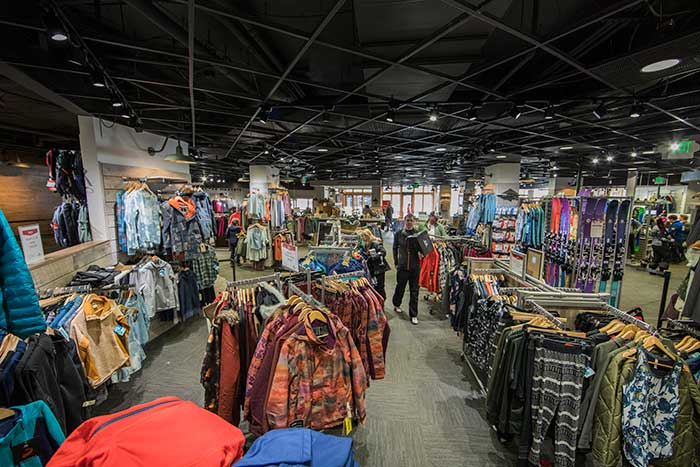 Birds eye view of retail area in Camp Hale Outfitters