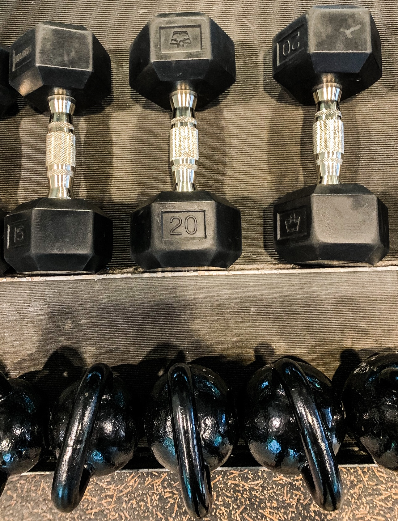 Various dumbbell weights