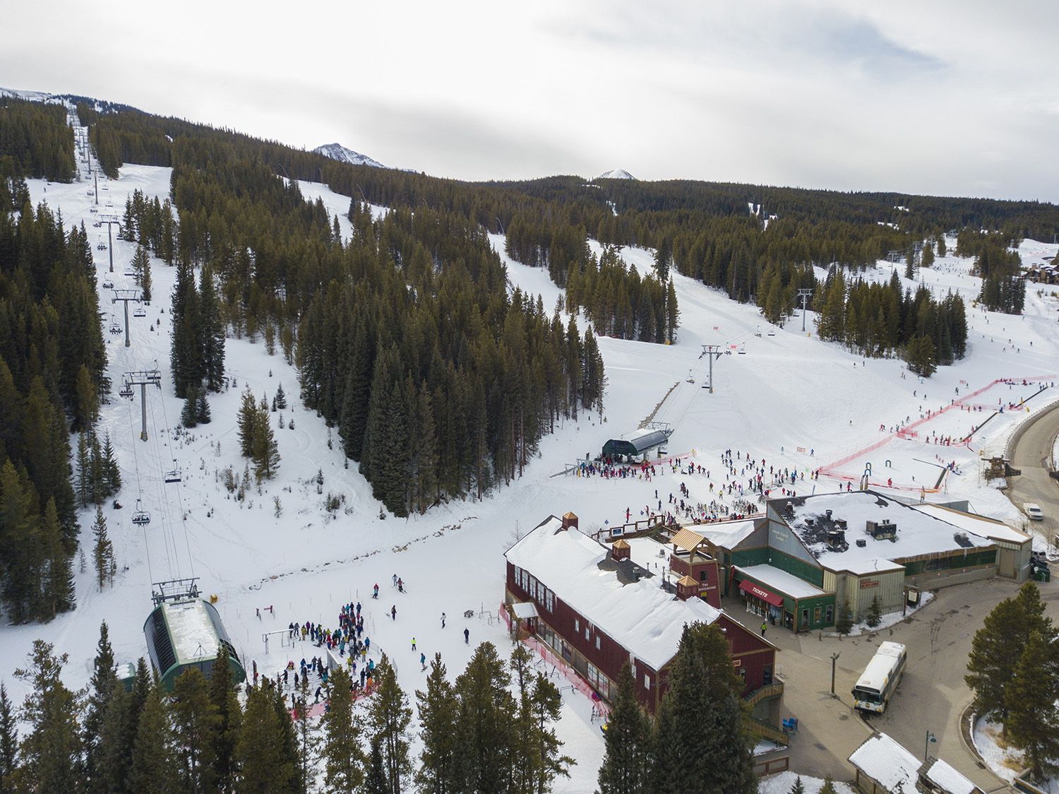 A birds eye view of Copper Mountain's West Village