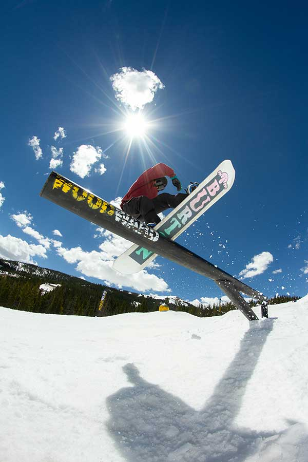 Skier takes to rail in Woodward Copper Summer Camp